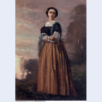 Portrait of a standing woman