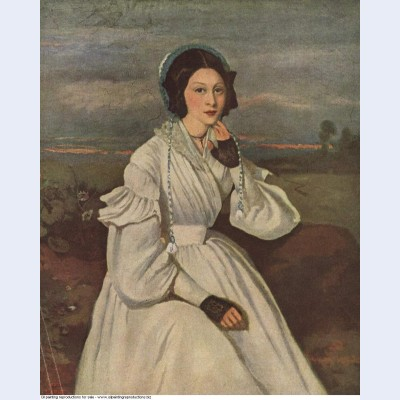 Portrait of louise claire sennegon future madame charmois 1837