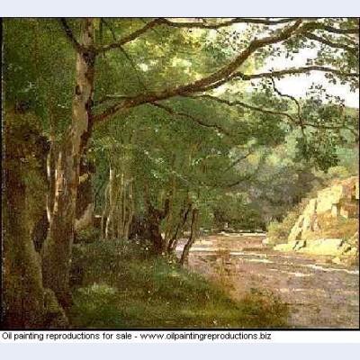 Ravine in the morvan near lormes 1860