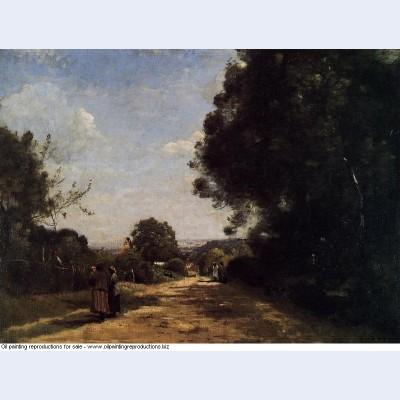 Sevres brimborion view toward paris 1864