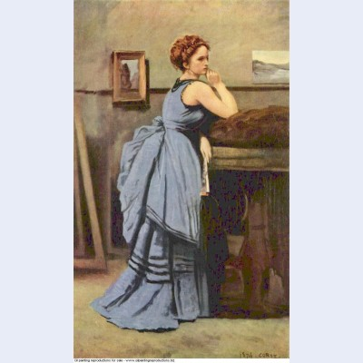 The woman in blue 1874