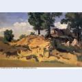 Trees and rocks at la serpentara 1827