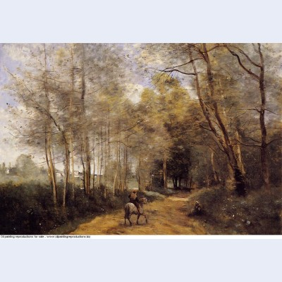 Ville d avray horseman at the entrance of the forest 1873