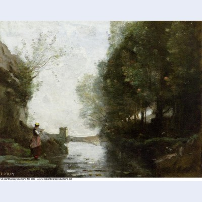 Watercourse leading to the square tower 1870