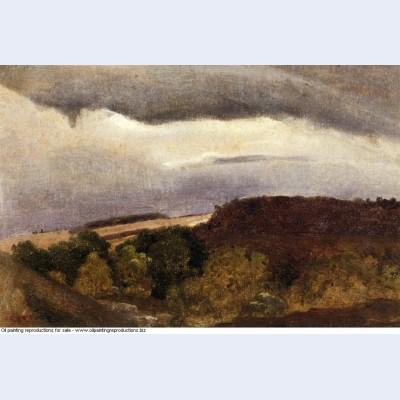 Wooded plateau fountainebleau 1840