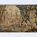 Les amusements champ tres le cheval fondu tapestry