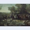 Louis xv hunting deer in the saint germain forest
