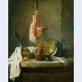 Still life with a rib of beef