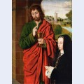 Anne of france lady of beaujeu duchess of bourbon presented by st john the evangelist right