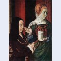 Madeleine of bourgogne presented by st mary magdalene