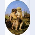 Drunken bacchus and cupid