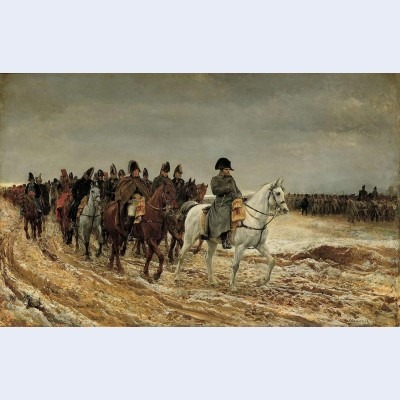 Campagne de france napoleon and his staff returning from soissons after the battle of laon