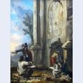 Zeichner in r mischen ruinen