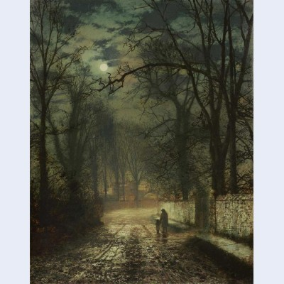 A moonlit lane