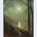 Moonlight on the lake roundhay park leeds