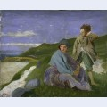 David and dorelia in normandy
