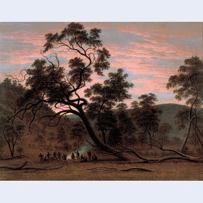 A corroboree of natives in mills plains