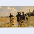 Fishing for oysters at cancale 1878