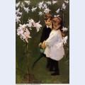 Garden study of the vickers children 1884