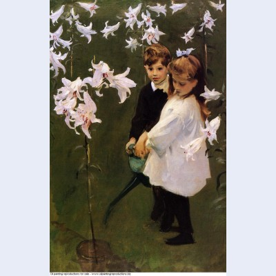 Garden study of the vickers children 1884