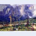 Graveyard in the tyrol 1915