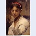 Head of a capri girl 1878