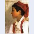 Head of a neapolitan boy in profile 1879