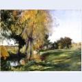 Landscape at broadway 1885