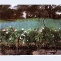 Landscape with rose trellis 1886