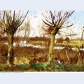 Landscape with trees calcot on the thames