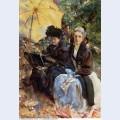 Miss wedewood and miss sargent sketching 1908