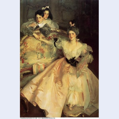Mrs carl meyer later lady meyer and her two children 1896