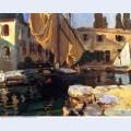 San vigilio a boat with golden sail 1913