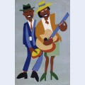 Blind singer street musicians