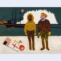 Commodore peary and henson at the north pole
