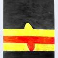 Franja roja y amarilla