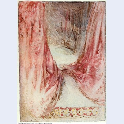 A bed drapery study