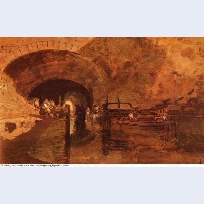 A canal tunnel near leeds