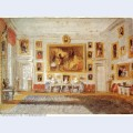 Petworth the drawing room bodycolor on blue paper