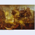 The battle of trafalgar as seen from the mizen starboard shrouds of the victory 1808
