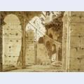 Inside the arcade of the colosseum