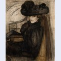 Lady with black veil