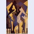 Harlequin at a table 1919