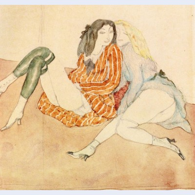 Two girls on the ground