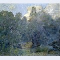 Landscape with stone wall windham
