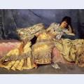 Lady on a pink divan