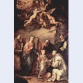 Holy family with st bruno the carthusian monks saints who left st bernard of siena st