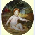 Child in a swimming pool portrait of prince a g gagarin in childhood