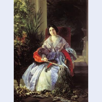 Portrait of princess ye p saltykova