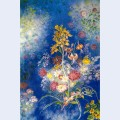 Flowers on the blue background